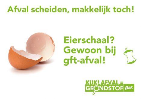 Eierschaal, gewoon gft-afval