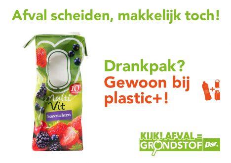 Drankpak gewoon bij plastic+